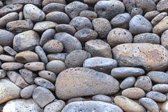 Grey Blue Volcanic Pumice Stone-Kiesel Lizenzfreie Stockbilder