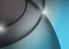 Grey and blue wave lines graphic illustration Royalty Free Stock Image