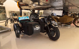 Grey 1944 BMW R-75 motorcycle and sidecar Stock Photos