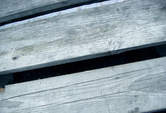 Grey boards. On the boat stock photography