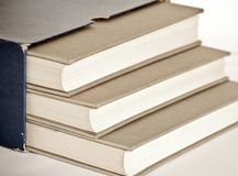 Grey books Royalty Free Stock Photos