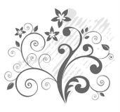 Grey botanical pattern Royalty Free Stock Image