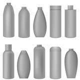 Grey bottle set Royalty Free Stock Photo