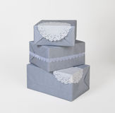Grey boxes Stock Photography