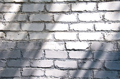 Grey brick background. Wall in day light Royalty Free Stock Photography