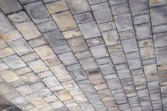 Grey Brick Ceiling Texture Background Royaltyfri Bild