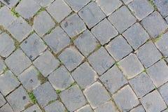 Grey brick floor in curve shape Stock Photos