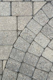 Grey brick paving background pattern Stock Image