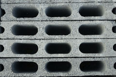 Grey brick. Top view of grey brick Stock Images