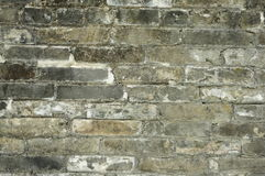 Grey Brick wall. Old brick wall,. over 100 years old stock photo