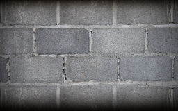 Grey Brick Wall Art en pierre Photographie stock libre de droits