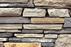 Grey brick wall as background. Stock Photo
