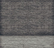 The grey brick wall Stock Images