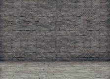 The grey brick wall Stock Photography