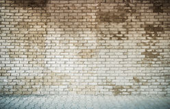 Grey brick wall background Stock Image