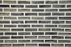 Grey brick wall for background Stock Photo