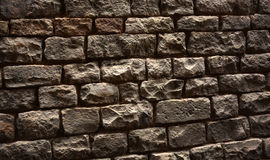 Grey brick wall background Royalty Free Stock Photography