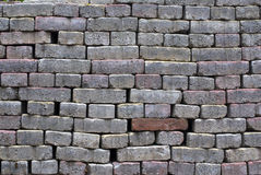 Grey brick wall backgrounds Stock Photography