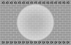 Grey brick wall with paw prints frame Royalty Free Stock Images