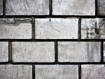 Grey brick wall texture background Royalty Free Stock Photos
