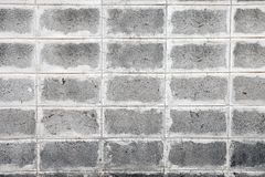 Grey brick wall texture & background Royalty Free Stock Images