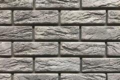 Grey brick wall texture background. Interior design concept with copy space.  stock photos