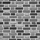 Grey brick wall tile, seamless pattern with bricks Stock Photography