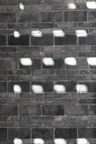 Grey Brick  wit  sun spot  Background. Grey   Brick  with grass Background Royalty Free Stock Images