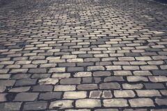 Grey Bricked Flooring Royalty Free Stock Photography