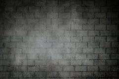 Old dark bricks wall with dark vignette borders