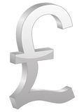 Grey british pound symbol Royalty Free Stock Photography