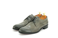 Grey brogue oxford Royalty Free Stock Image