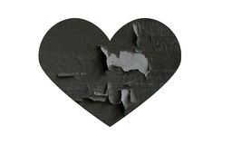 Grey broken heart Royalty Free Stock Images