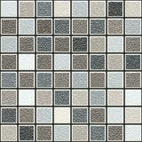 Grey and brown 3d structure tiles pattern. Seamless texture of interior tiles in natural colors Stock Image