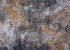 Dark Grey Brown Black Stones Canvas Abstract Painting Grunge Rusty Distorted Decay Old Texture for Autumn Background Wallpaper