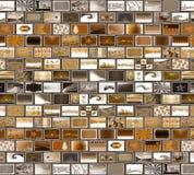 Grey brown mosaic wall stock images