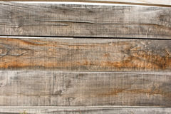 Grey and brown wooden fence Royalty Free Stock Image