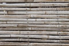 Grey brown wooden plant table photo background. Wooden plank table top view. Stock Image