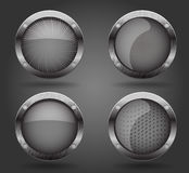 Grey buttons. Royalty Free Stock Photography