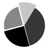 Grey cake diagram. Illustration flat style design Royalty Free Stock Image