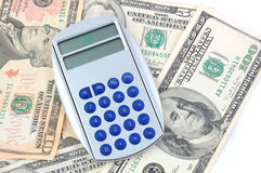 Grey calculator Stock Images
