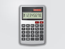 Grey calculator Royalty Free Stock Photos