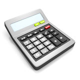 Grey calculator on a white background Royalty Free Stock Photo