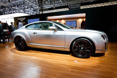 Grey car Bentley Continental Stock Image