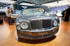 Grey car Bentley Mulsanne Royalty Free Stock Photos