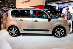 Grey car Citroen C3 Picasso Royalty Free Stock Photos