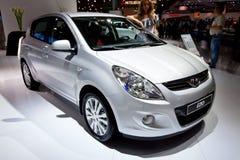 Grey car Hyundai  i20 Stock Photography
