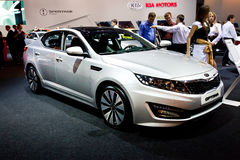 Grey car Kia Optima Royalty Free Stock Photography