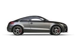 Grey Car métallique - vue de côté Photo libre de droits