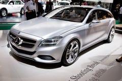 Grey car Mersedes Stock Photography